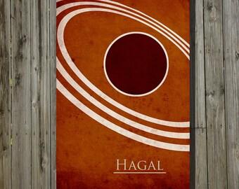 Giclee Print Dune Scifi poster movie poster minimalist poster geekery art print sci fi print Hagal