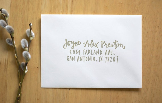 Wedding Calligraphy Envelope Addressing Modern calligraphy Wedding ...