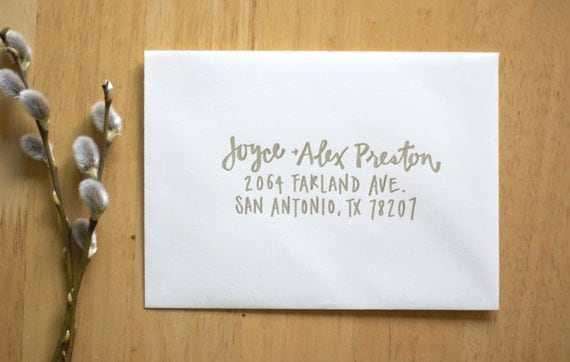 How To Label A Wedding Gift Envelope : Wedding Calligraphy Envelope Addressing Modern calligraphy Wedding ...