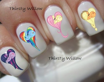 My Little Pony Heart Nail Decals