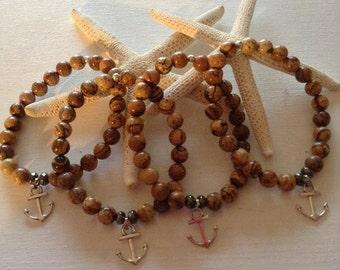 Picture Jasper Anchor Bracelets