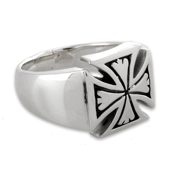 b7239a2b533 ... Iron Cross Ring  Sterling Silver 925 Iron Cross Biker Ring Made In USA