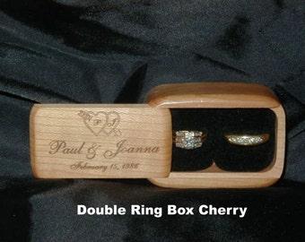 Double ring box Etsy