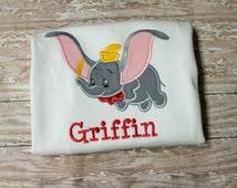 Dumbo Shirt,Circus Shirt,Dumbo Birthday Shirt,Elephant Shirt