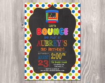 Bounce House Birthday Invitation, Bounce Party Invitation, bounce party, Bouncy House Birthday Invitation, Printable bounce house invitation