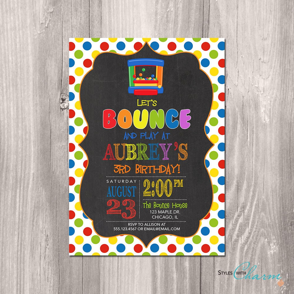 bounce invitation bounce house birthday invitation bounce party invitation bounce party bouncy house birthday invitation printable bounce house invitation