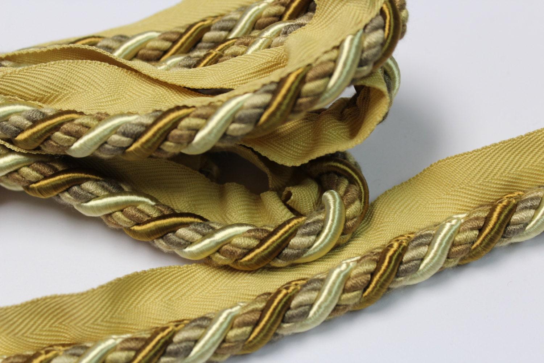 Gold Cream Braided Cording Decorative Trim 577
