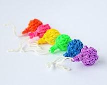 VALENTINE DAY! Loom Band 3D Balloon Charm - Zipper Pull, Charm, Rubber Band, Accessories, Rainbow loom charm, wedding favors