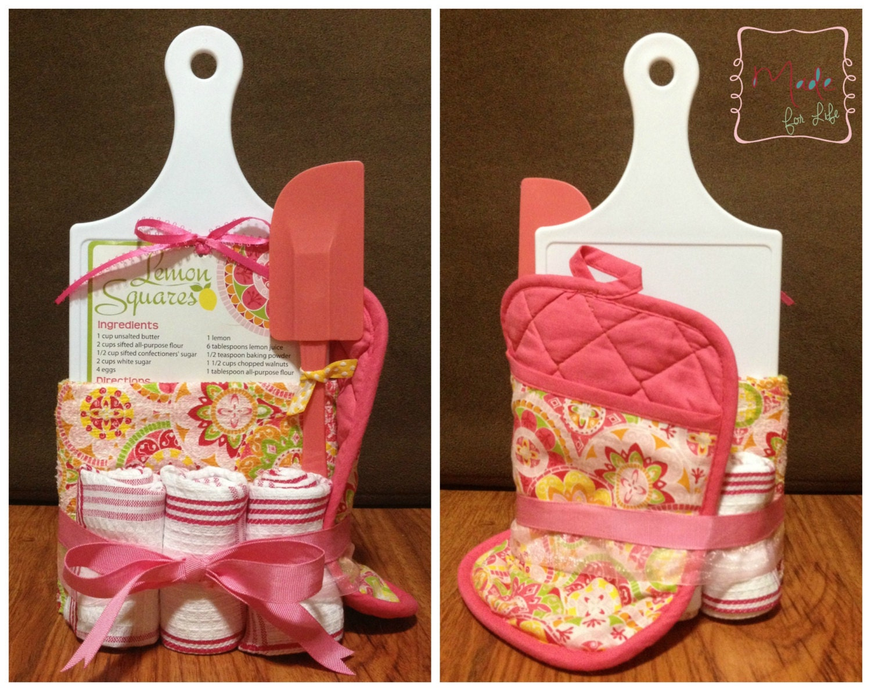 Kitchen Wedding Gifts: Kitchen Towel Cake Wedding Gift Bridal Shower By