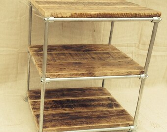 Industrial Style Free Standing Gas Pipe Shelving Unit
