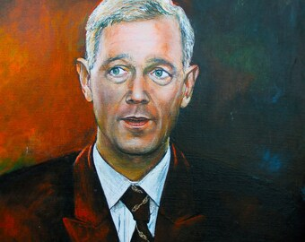 Authentic - Franjo Luković - Oil on Canvas portrait face hrvatska painting Croatia 67x50 cm
