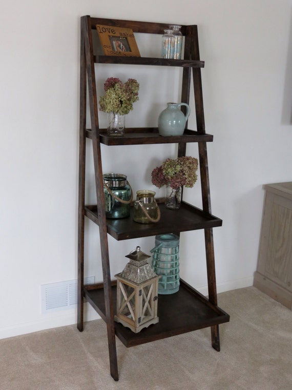rustic ladder shelves. Black Bedroom Furniture Sets. Home Design Ideas