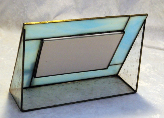 4 x 6 inch stained glass picture frame by crystalwoodcreations