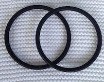 Large Pair of Black Aluminum Sling Rings