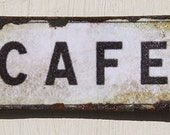 Miniature Dollhouse Vintage Inspired Tin Sign - Cafe