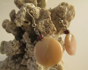 2655 - Earrings White Stone and Ceramic