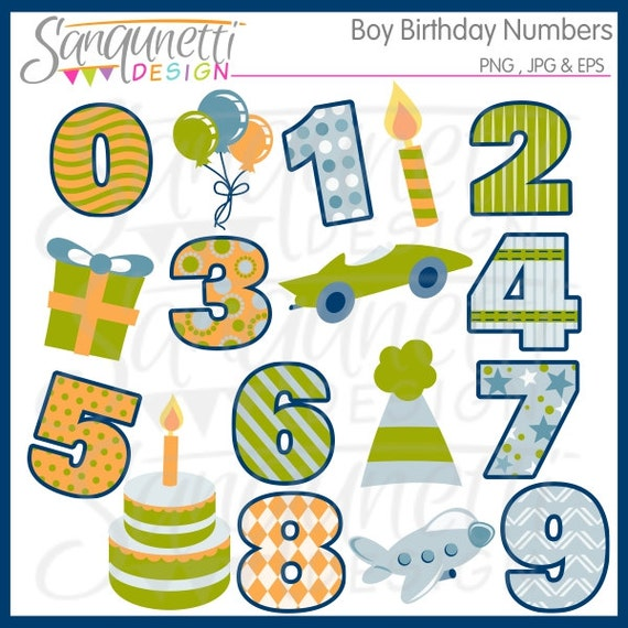 free clipart birthday numbers - photo #46
