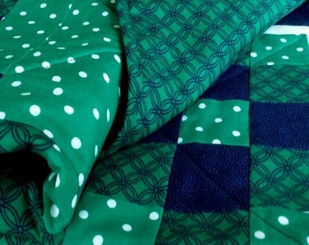Handmade Baby Quilt Patchwork Double Irish Chain Quilt
