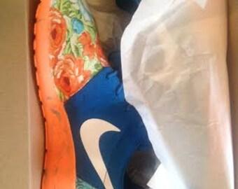 Custom Roshe Run Blue Amp Orange