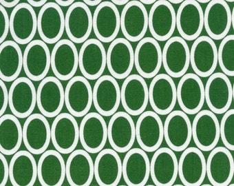 Robert Kaufman Remix Ovals in Kelly 100% Cotton by Ann Kelle