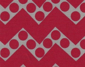 Fabric Finders Red/Grey Chevron and Dots