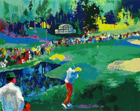 leroy neiman golf playground oil painting by antsartworkoffice. Black Bedroom Furniture Sets. Home Design Ideas