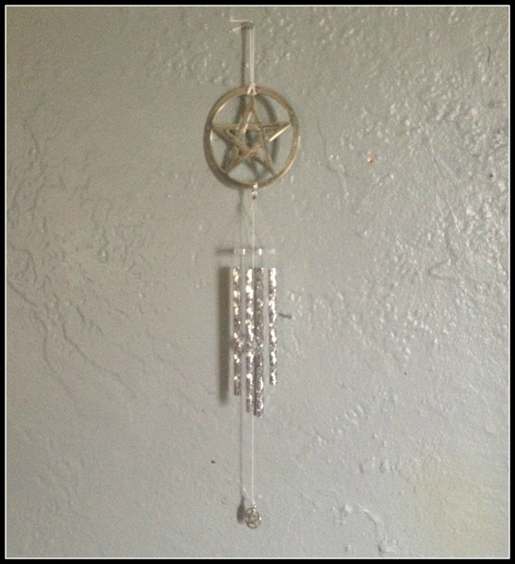 Items Similar To Pentacle Wind Chime Wiccan Wicca