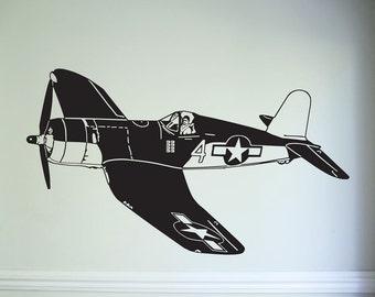 Airplane Glass Sticker