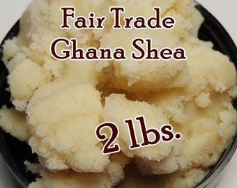 GHANA SHEA BUTTER Fair Trade, Organic, Unrefined / Raw (2 lb. size)