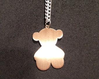 Teddy Bear Pendant Handmade Necklace