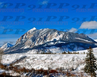 Mt Crested Butte, Colorado -  photo print enlargement - various sizes and finishes available