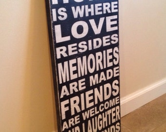 Home Is Where Love Resides sign - wood wall art