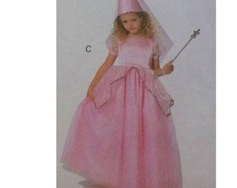 Princess Dresses for girls / children costumes / peplum /dirndl dress / 2005 sewing pattern, Chest 21 22 23 24, Size 2 3 4 5, Butterick 4630