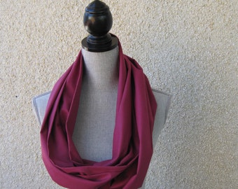 Fabric scarf, Infinity scarf, tube scarf, eternity scarf, loop scarf, long scarf in pomegranate cotton fabric