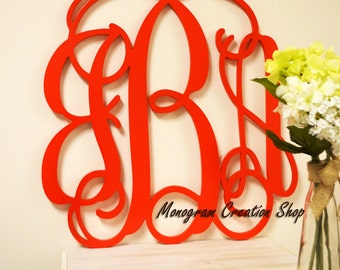 20 Inch Wooden Monogram Painted (You Pick The Color), Wooden Letters, Home Decor, Nursery Letters, Nursery Decor, Monogram Door Hanger