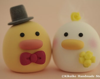 Ducks wedding cake topper