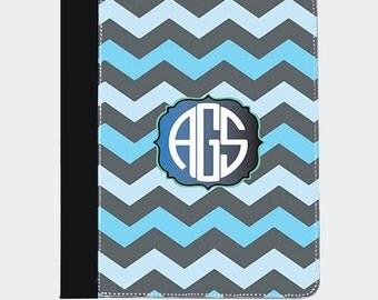 Monogram iPad-Blue iPad-Gray iPad-Chevron iPad-Blue Chevron iPad- iPad Air, iPad Air Leather, iPad Air Cover, iPad Air Case, iPad Air Folio