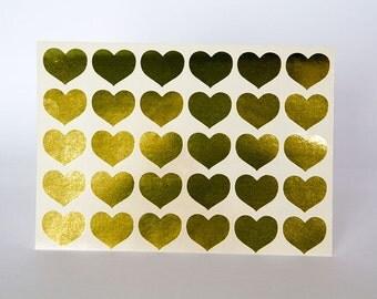gold sticker heart sticker gold paper sticker letter