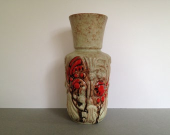 Ü - Keramik / Übelacker 1325 / 24  rare beautiful Mid Century  vase  from the 1960s West Germany
