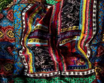 Enyoing SunShine Foulard,  100% Habotai Silk, 102cm x 102cm