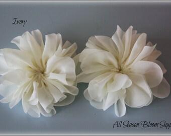 Ballerina Flowers, Ivory, Fabric Flowers, Tutu Flowers, Wholesale, Chiffon Flower, DIY