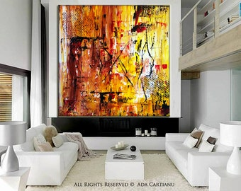 """Acrylic Painting Large Abstract Acrylic Painting GALLERY ARTWORK - 30""""x30""""-, Original Oil Painting on Canvas Contemporary Painting Wall Art"""
