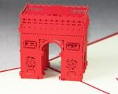 3D Pop-Up Handmade kirigami card