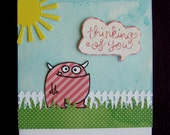 Paper Smooches monster thinking of you card