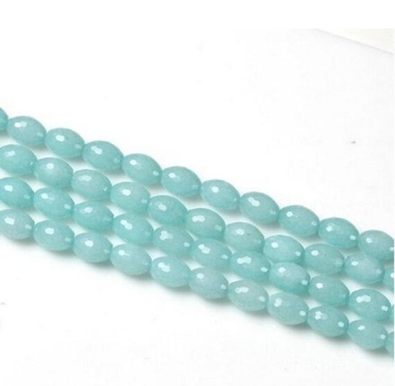 1014mm gemstone light blue bead 16inch by
