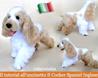 104IT Il tutorial all'uncinetto Il Cocker Spaniel Inglese. Amigurumi Giocattolo - PDF Di Chirkova Etsy
