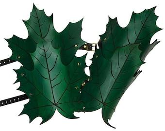 Elven Leaf Leather Greaves - Leg Armor - #DK5207