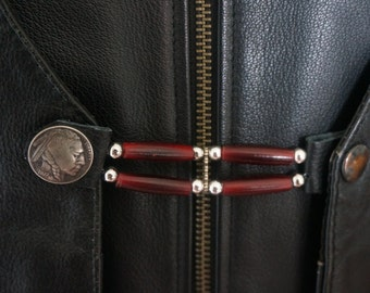 Vest Extenders Southwestern Style Leather and Bone Beads