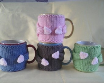 Mug Cosy, Mug Hug Cozy with arms and moveable hand with hooks to position where you want