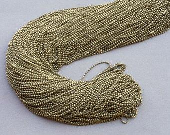 25 pcs (ancient bronze) 70cm, 1.5mm Ball Chain Necklaces